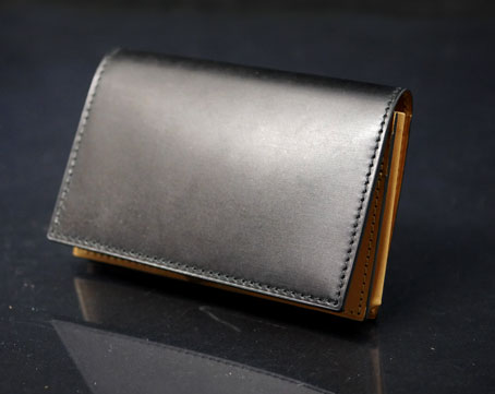 waterOil Cordovan Card Case